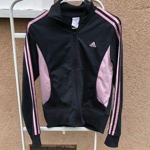 Adidas Pink and Gray Track Jacket